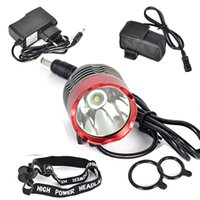 Wholesale bike light headlamp online - Bicycle T6 LM XML LED Light Modes Headlamp Headlight Bike Light Bicycle Front Lamp outdoor night riding hiking waterproof