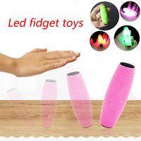Wholesale fidget stick for sale - Group buy New LED Flash Fidget Stick MOKURU Rollver Desktop Flip Toys Hand Eye Co ordination Concentration Trainer The Amazing Desk kids Toys