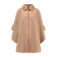 e41204b08411 schwarze kaschmir dame s mantel großhandel-ZYSK Hohe Qualität Herbst Winter  Frauen Cashmere Jacke Lange