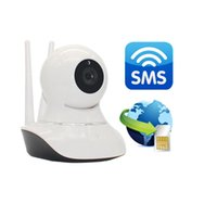 Wholesale sms security cameras online - GSM Camera Alarm P IP Camera WiFi Video Calling SMS Security Monitoring Home Wireless IOS Android APP Infrared W12