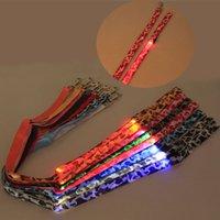 nylon kette hundehalsband großhandel-Camouflage Hundehalsbänder und Leinen Glow LED Blinklicht Pet Leas Tether Traction Gürtel Umweltschutz Kettenseil