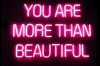Wholesale restaurant beautiful - Neon Signs Gift You Are More Than Beautiful Beer Bar Pub Store Party Homeroom Decor 19X15