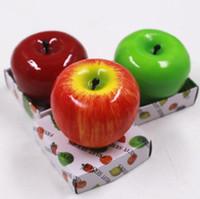 ingrosso decorazioni di mele-Candele di frutta Candela a forma di mela Profumato Bougie Festival Atmosfera Decorazione romantica per feste Vigilia di Natale Capodanno