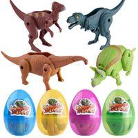 oeufs de dinosaures jouets achat en gros de-Pâques Surprise Des Oeufs Dinosaure Jouet Modèle Déformé Dinosaures Oeuf Collection Jouets Pour Enfants Oeufs De Dinosaure Jouets