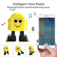 Wholesale portable app mp3 player for sale - Intelligent APP Control Bluetooth Mini Speaker Educational Dancing Singing Robot Toys for Kids Babies Cute Smart