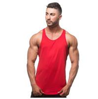 neue t-shirt design farbe männer großhandel-Männer Tank Top T-Shirts ärmellose Baumwolle Mode neue Design T-Shirts Weste Bekleidung Solid Color