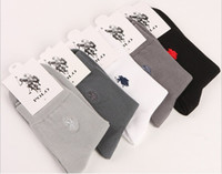 Wholesale brand commercial - Pure Cotton Spring Socks Men Authentic Polo Brand Men's Socks Autumn And Winter Commercial Male Socks 10 pcs=5 pairs