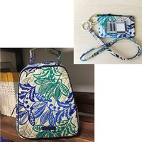 New pattern Cotton Lunch Bunch Bag with id case and lanyard