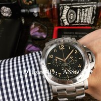 Wholesale good quality watches - Luxury Brand Chronograph VK Quartz Mens Watch AAA Good Quality MM Sport MEN S Submersible Steel Strap Pam Wrist Watches
