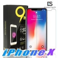 Wholesale mirror packaging - For Iphone X 8 7 Tempered Glass Screen Protector For Iphone X Edition Iphone 6 J3 J7 Prime 2017 Huawei P20 lite pro 2.5D 9H Paper Package
