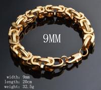 ingrosso braccialetto di stile di strada-Trasporto libero 18k oro uomini braccialetto vendita calda moda ragazzo braccialetti street dance stile collana stringa di gioielli