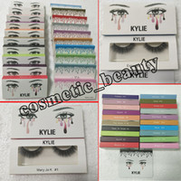 Wholesale Model Strips - new kylie False Eyelashes 20 model Eyelash Extensions handmade Fake Lashes Voluminous Fake Eyelashes For Eye Lashes Makeup Free shipping