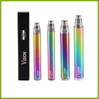 Wholesale rainbow ego twist for sale - rainbow vision spinner e cigarette ego twist variable voltage battery V V mAh mAh mAh mAh factory vape pen