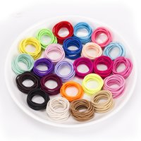 Wholesale Thick Red Rope - 200pcs lot Rope Elastic Hair Ties 2.5mm Thick Hairbands Girl's Hair Bands Headwear DIY jewelry Accessories