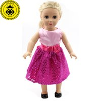 Wholesale Diy Clothes Dress Flowers - NEW American Girl Doll DIY New Set Clothes for 18 inch Girl Birthday Gift Doll Accessories Flower Girl Dress MG-003