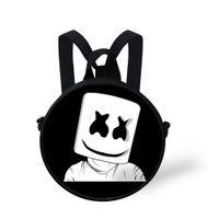 9b34ef36d3 Noisydesigns cute Kids Marshmello Printing funny Backpack Girls Children  Round Helmet Bags Casual School Bag Feminina