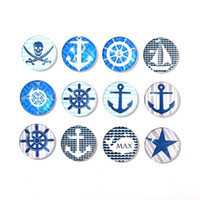 Wholesale Novelty Gift Packaging - Creative Nordic Style Fridge Magnet Round Design Sailing Ships Crystal Glass Refrigerator Sticker Novelty Home Decoration Gift 15nxb Y