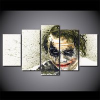 picture batman Canada - 5 Pcs Set Framed HD Printed batman the dark knight joker Wall Art Canvas Print Poster Canvas Pictures Abstract Oil Painting
