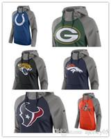 poder marrom venda por atacado-Browns Broncos Packers Texans Colts Jaguars Mulheres Todos Os Tempos Raglan Pullover Desempenho Moletom Com Capuz Borgonha Cinza Heathered Camisola