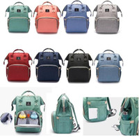 Wholesale Wholesale Nappy Changing Bags - New Multifunctional Baby Diaper Backpack Mommy Changing Bag USB interface Mummy Backpack Nappy Mother Maternity Backpacks Outdoor Bags