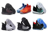 Wholesale Kd Mens - Newest arrival kevin Durant KD10 IX USA Pre-Heat Cool Grey men basketball kd 9 Oreo Zero Elite sports shoes mens kds sneakers