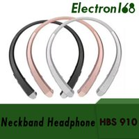 Wholesale best wireless neckband headphones for sale - Group buy 50X HBS Headset Earphone Sports Wireless Bluetooth Headphone Best Quality For iphone plus s8 edge hbs910 DHL