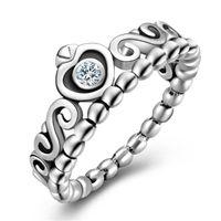 heiße verkauf pandora-stil großhandel-Heißer Verkauf Neue 925 Sterling Silber Pandora Stil Ringe Crown Hochzeit Verlobungsring Für Frauen Mode Edlen Schmuck