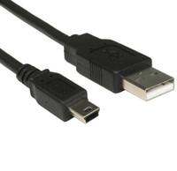 mini usb leads venda por atacado-3m de comprimento MINI USB cabo Sync carga de chumbo tipo A a 5 Pin B Phone Charger