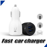 Wholesale Qc Cars - For Samsung Galaxy S8 Car Charger For iPhone X QC 3.0 Fast Car Charger 3.1A Qualcomm Quick Charge Dual Usb Port Car Charger With OPP Bag
