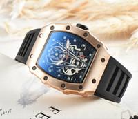 Wholesale 2018 Luxury brand Fashion Skeleton Watches mene s or women Skull sport quartz watch