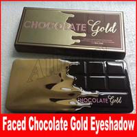 Wholesale Gold Glitter Powder - Faced Makeup Palette Eye Shadow Chocolate Gold 16 colors Eyeshadow metallic matte eye shadows natutal cocoa powder palette