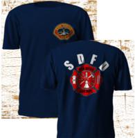 Wholesale california fashion men - Fashion New San Diego California Firefighter Fire Department Navy T SHirt M-3XL Tee shirt