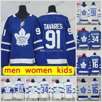 b1a7a7ea4f6 2018-2019 season Toronto Maple Leafs 34 Auston MATTHEWS 91 John Tavares 16  Mitch MARNER kid women Men Hockey Jerseys
