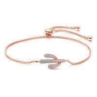 Wholesale cute jewelry for women resale online - meidi Cute Zircon Cactus Bracelet for Women Fashion Rose Gold Silver Color Jewelry Girl Luxury Bracelet Party Accessories