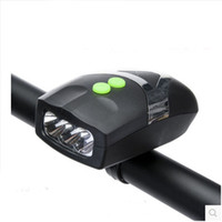 Wholesale bike lit for sale – custom 2 In Design Lould Bike Horn With White Front Light Electric Alarm Bell For Night Riding Safety Bicycle Parts hy ZZ