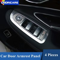 Wholesale for car lifts for sale - Car Window Glass Lifting Panel Decoration Cover Trim Aluminium Alloy For Mercedes Benz C Class W205 GLC X253 RHD