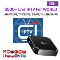 receptor de satélite wifi compatible al por mayor-X96 mini con 3400+ SUBTV IPTV Server para el Reino Unido Canadá España Alemania Polonia Suiza Albanesa Bélgica Rumania VOD películas 1GB x96mini iptv box