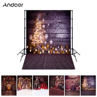 Wholesale christmas backdrops for photography - Andoer 1.5*2 meters  5*7 feet Photo Background Christmas Holiday Photo Studio Foldable Photography Backdrop 6 Models for Option
