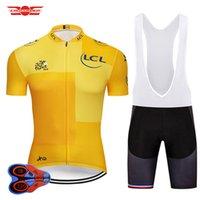 комплекты трикотажные изделия оптовых-2018 Tour De France Велоспорт Джерси Установить MTB Рубашка Велосипедная одежда Ropa Ciclismo Велосипедная одежда Велоспорт Одежда Мужская короткая Maillot Culotte