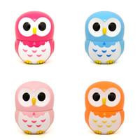 Wholesale Cartoons Alarm Clock - Lovely Plastic Alarm Clock 60 Minute Mechanical Timers Cartoon Owl Shape Kitchen Timer Multi Color 6 66yy C R