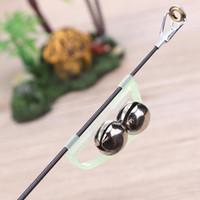 ingrosso clip della punta dell'asta-10 Pz Canna da pesca notturna Campane gemelle Alert Ring Ring Rod Clip Tip Accessori pesca Attrezzatura da pesca