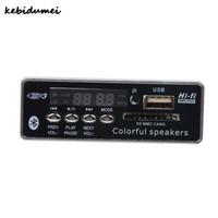 пульты дистанционного управления оптовых-Kebidumei Bluetooth Hands-free MP3 декодер доска модуль автомобиля USB MP3-плеер встроенный пульт дистанционного управления USB FM Aux радио для автомобиля