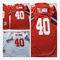 Wholesale fast american - NCAA Retired Player American Football Jerseys Cheap 40 Pat Tillman Jersey Vintage Jersey Color White Red 100% Stitched Jersey Fast Shipping