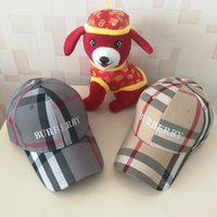 Wholesale music baseball - men women Plaid Fashion Embroidered Baseball Cap MLB Hat Sun Shade Leisure Hat