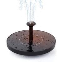 wasserpumpen klein großhandel-Solar Power Bird Bath Brunnen Wasser Schwimmende Pumpe Brunnen für Vogel Bad, Aquarium, kleinen Teich, Garten Dekoration