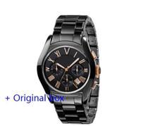 marcas de relógios digitais venda por atacado-Venda por atacado - Nova promoção Quartz Movement Assista Chronograph ar1400 ar1401 ar1410 ar1411 relógios Mens de luxo da marca de moda Watch Militar