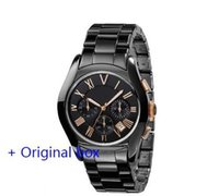 Wholesale ceramic digital - Wholesale - New promotion Quartz Movement Watch Chronograph ar1400 ar1401 ar1410 ar1411 watches Mens Luxury Brand Fashion Watch Military