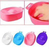 tazón de manicura de uñas al por mayor-1 PC Nail Art Removedor de lavado a mano Soak Plastic Bowl Nail Bath Manicure Tool