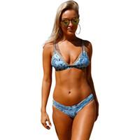 ingrosso bikini chic-Costume da bagno triangolato stampato chic bikini 410154