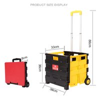 Wholesale 24 trailer - PP aluminum alloy folding carts portable home with covered climbing floor trolley trailer trolley